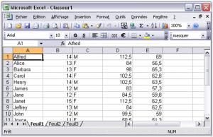 Export de SAS vers Excel 11