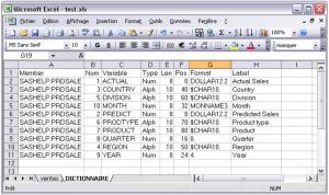 Export de SAS vers Excel 3