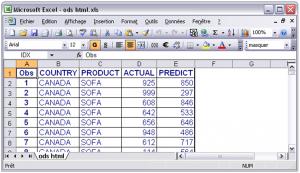 Export de SAS vers Excel 4